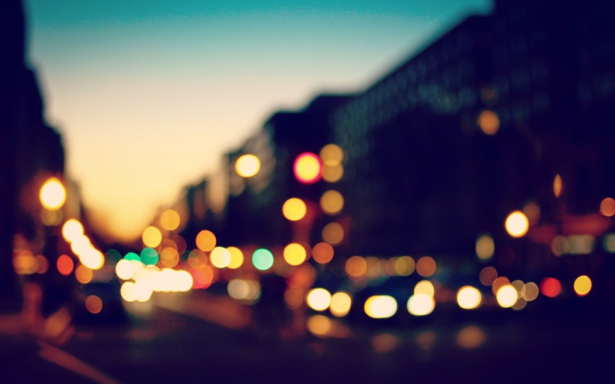 bokeh-lights-sunset-city-hd-wallpaper