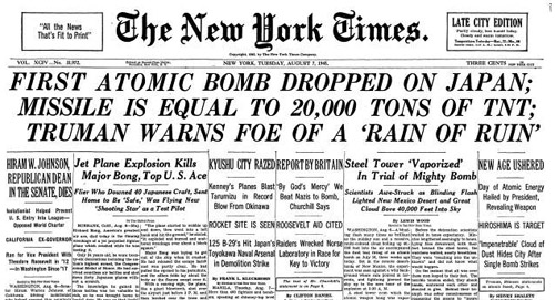 1945-08-07-New-York-Times-headline