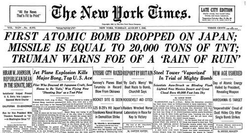 1945-08-07-New-York-Times-headline