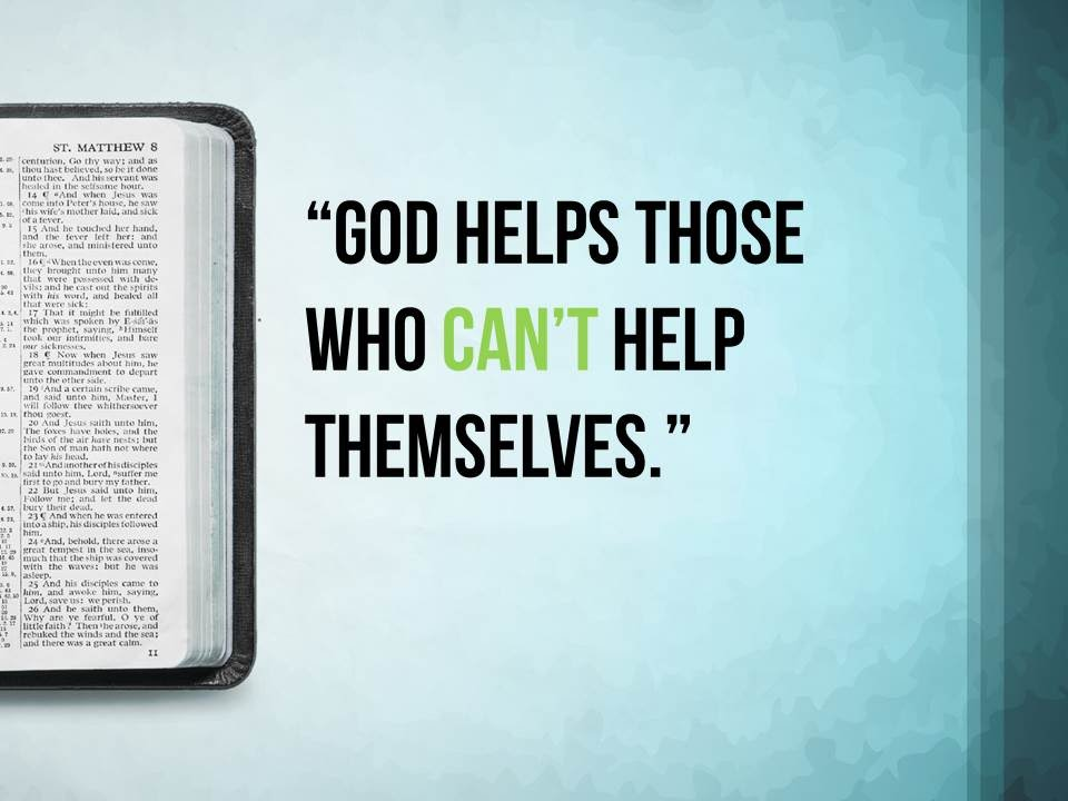 Essay on God helps those who help themselves for Students