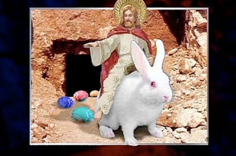 jESUS AND EASTER BUNNY